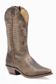 Men's Boulet Dark Brown Medium Round Toe Cowboy Boot
