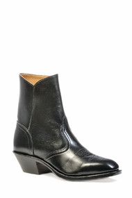 Men's Boulet Black Dress Toe Half Boot with Zipper