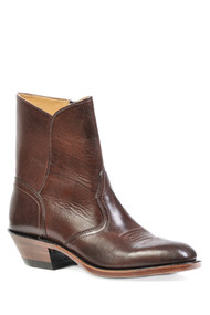 Men's Boulet Brown Dress Toe Western Boot with Zipper