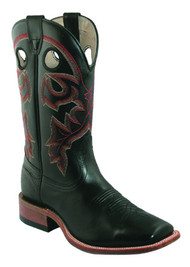 Men's Boulet Black Wide Square Toe Cowboy Boot