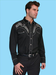 "Men's Scully ""Vamp Stitch"" Western Shirt"