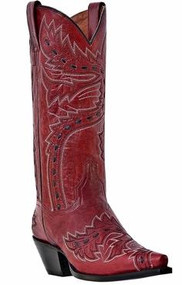 Women's Dan Post Red Sidewinder Western Boot