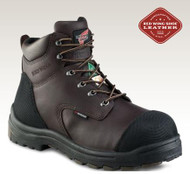 "Men's Red Wing 6"" Brown with Rubber Toe Cap Safety Boot"