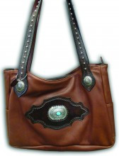 Brown Purse with Turquoise Stone
