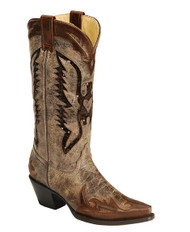 Women's Corral Brown Eagle Sequin Boot Western Boot