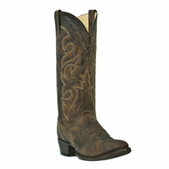 Men's Dan Post Distressed Brown Round Toe Cowboy Boot