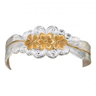 Montana Silversmiths Silver and Gold Flower Bracelet