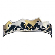 Montana Silversmiths Silver, Black and Gold Horse Bracelet