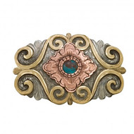 Montana Silversmiths Blooming Flower Belt Buckle with Turquoise Stone
