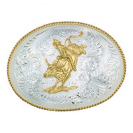 Montana Silversmiths Large Oval Bullrider Belt Buckle