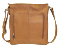 Queros Tan Leather Purse