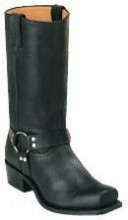 Men's Boulet Black Harness Motorcycle Boot