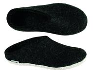 Glerups Charcoal Wool Slipper