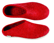 Glerups Red Wool Slipper