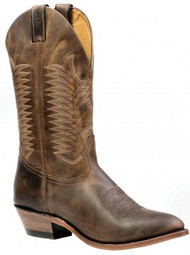 Men's Boulet Oiled Tan Medium Round Toe Western Boot