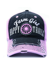 Farm Girl Black and Pink Happy Trails Cap