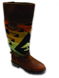 "Paul Brodie's Women's Winter Boot Brown with ""Big Amber Thunder"" Pendleton Blanket"