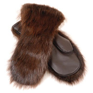 Grenier Beaver Fur Mittens