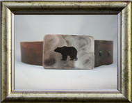 Gestalt Stainless Steel Bear Belt Buckle