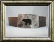 Gestalt Stainless Steel Bear Belt Buckle