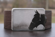 Gestalt Stainless Steel Horse Head Belt Buckle