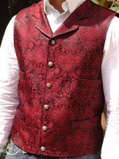 Men's Old Frontier Brocade Red Vest