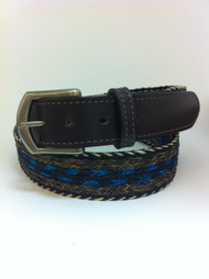 Colorado Horsehair Belt Brown/Turquoise