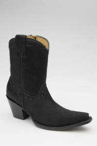 Women's Corral Short Boot with Black Cowhide Western Boot