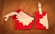 Hides in Hands Canadian Luggage Tag