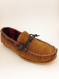 Men's Wakonsun Hazelnut Suede with Flannel Lining and Rubber Sole