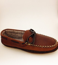 Men's Wakonsun Brown Lined Moccasin with Rubber  Sole