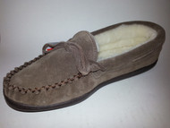 Men's Laurentian Chief Shearling Lined Suede Moccasin with Rubber Sole