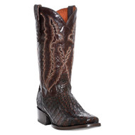 Men's Dan Post Chocolate Caiman Square Toe Western Boot