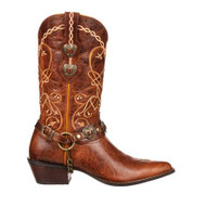 Women's Durango Brown Heart Concho Western Boot