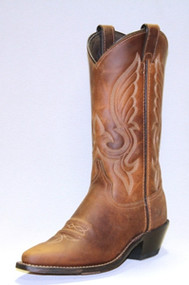 Women's Abilene Oiled Tan Snip Toe Cowboy Boot