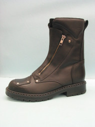 "Men's Martino Black 8"" Motorcycle Boot with Double Zipper"