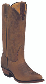 Women's Boulet Oiled Brown Cowboy Toe Western Boot