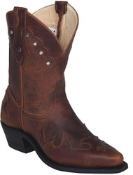 "Women's Canada West Brown 6"" Shortie Western Boot"