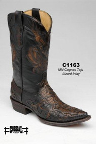 Men's Corral Cognac Teju Lizard Inlay Western Boot