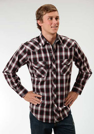 Men's Roper Black Watch Plaid Longsleeve