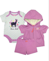 Farm Girl Newborn Horse 3 Piece Set