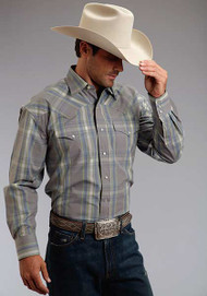 Men's Stetson Mineral Plaid Longsleeve Shirt