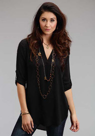 Women's Roper Black Longsleeve Blouse