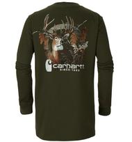Men's Carhartt Photoreal Deer Pocket Longsleeve