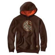 Men's Carhartt Rain Defender® Hooded Camo Applique C Sweatshirt