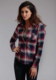 Women's Roper Pomegranate Plaid Shirt