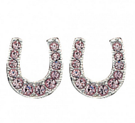 Montana Silversmiths Pink Ice Lucky Horseshoe Earrings