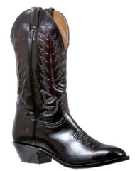 Women's Boulet Black Cherry Medium Cowboy Toe Western Boot