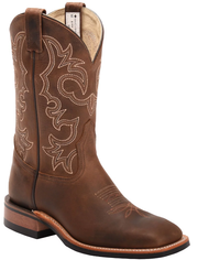 Men's Canada West Brahma Dark Brown Square Toe Western Boot