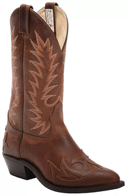 Men's Canada West Brown Overlay Western Boot